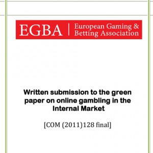 EGBA contribution to the Green Paper on online gambling in the Internal Market