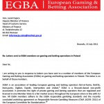 EGBA second letter to Polish Minister Boni on the reform of the betting market