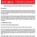 EGBA position on sports to the Polish Presidency of the EU