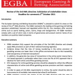 EGBA reply to the European Commission questionnaire on the review of the 3rd Anti Money Laundering Directive
