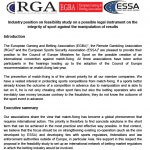 EGBA, ESSA, RGA position paper on the Council of Europe proposal for a convention on match fixing
