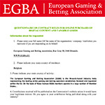 EGBA reply to consultation on online contract rules for digital purchases