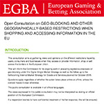 EGBA reply to consultation on geoblocking