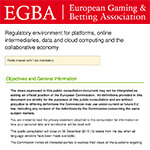 EGBA reply to online platform consultation