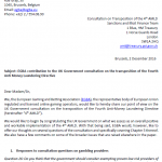 EGBA contribution to the UK Government consultation on the transposition of the Fourth Anti Money Laundering Directive