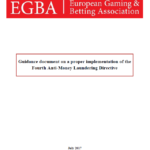 EGBA Guidance document on a proper implementation of the Fourth Anti-Money Laundering Directive by Member States