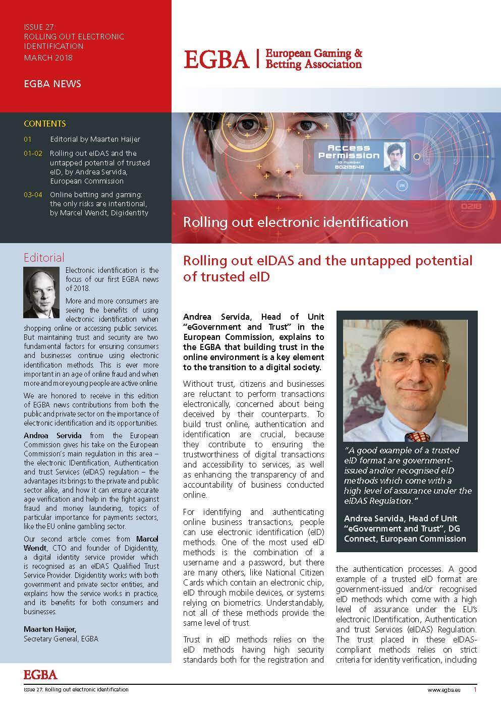 Issue 27: Rolling Out Electronic Identification