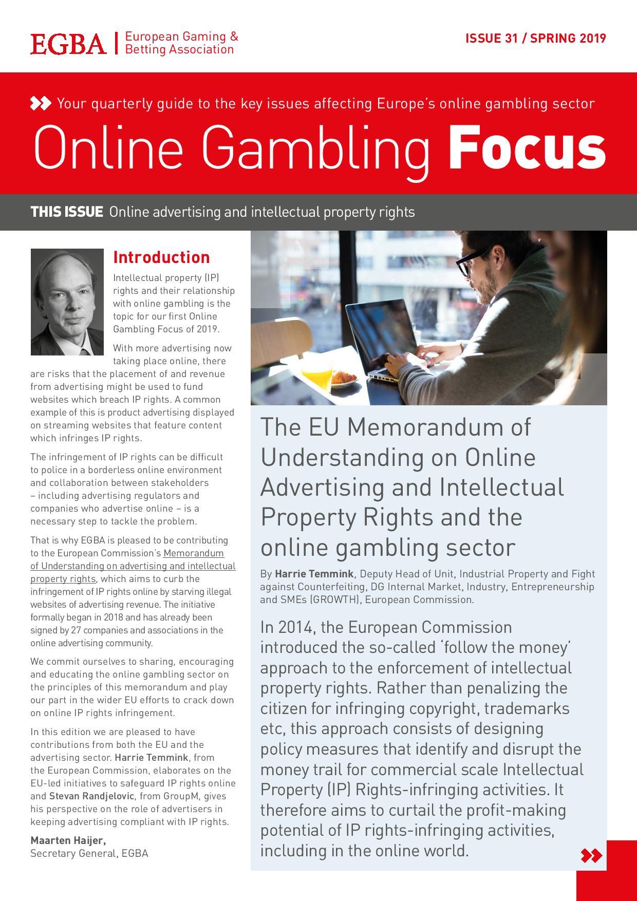 Online Gambling Focus - Spring 2019