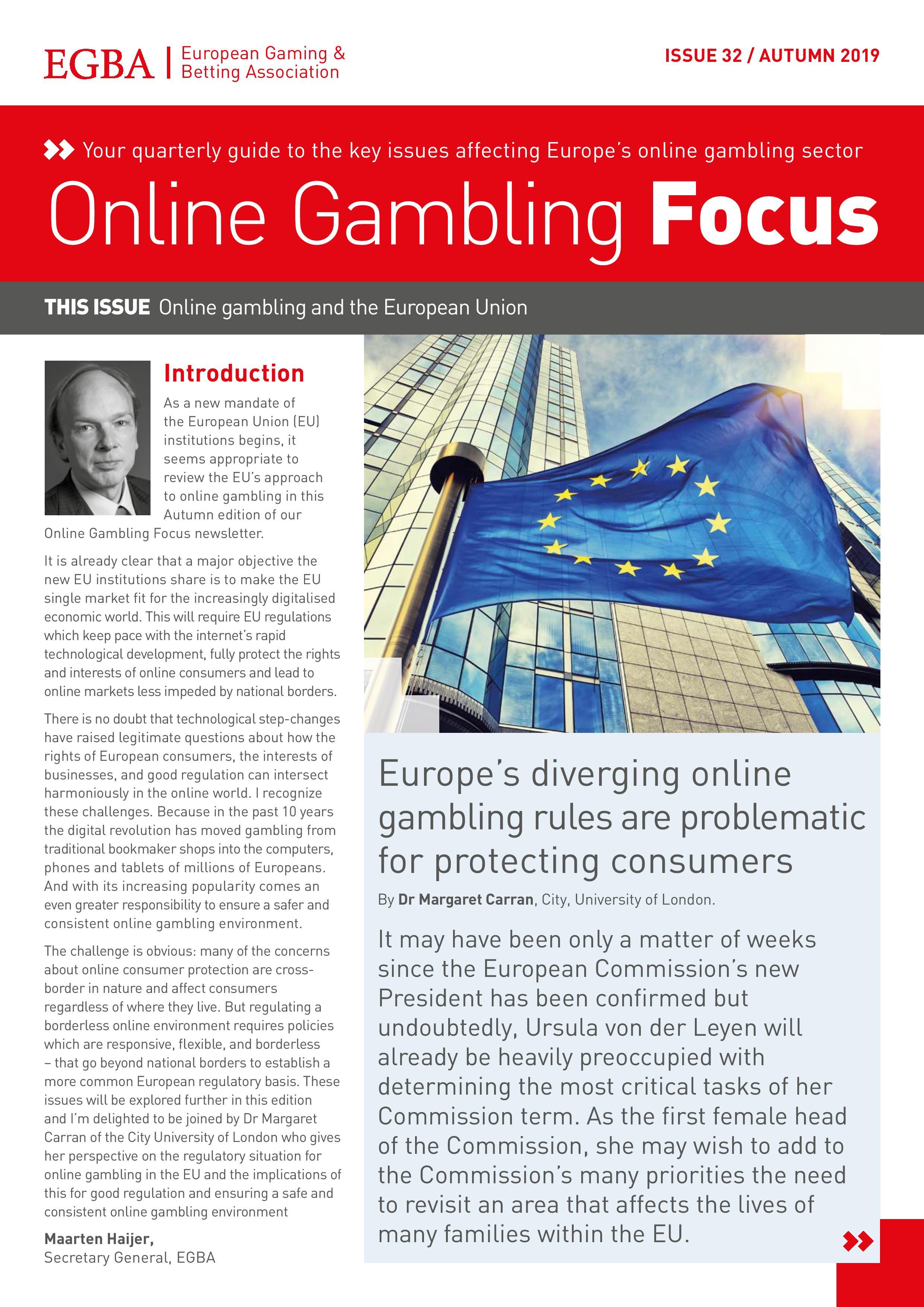 Online Gambling Focus - Autumn 2019